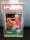 1963 TOPPS JERRY LUMPE PSA NM-7 (NQ) CARD # 256-------TOUGH CARD..........DM