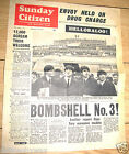 BEATLES Newspaper Old Vintage John Lennon Paul McCartney Man New York City U UK