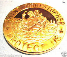 ST CHRISTOPHER Gold Coin Travelling Saint  God Jesus Christ Bible Church Holy UK