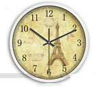 E43 European Quartz Clock White 12 Inches Mute Round Wall Living Room Clock