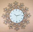 European Rural Black S 60*60 CM Iron+Glass Living Room Wall Clock