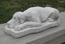 CONCRETE GREAT DANE DOG STATUE /  MONUMENT UN-CROPPED