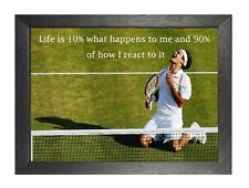 7 Tennis Life Is  What Happens To Me And  Of How I A3 A4 Or Laminated Poster