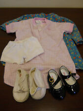 "MY TWIN SHOES & CLOTHES MISC BLACK PATENT & WHITE CANVAS SHOES 23"" doll twinn"