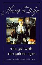 The Girl With the Golden Eyes by Honore de Balzac Hardcover w/ dust jacket