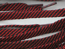BOOT LACES BLACK/RED 150cm X 3 PAIRS 16/20 EYE DR/M /ROLLER BOOTS HICKING/BOOTS