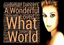 Celine Dion - What A Wonderful World lyrics Poster A3 A4 Or Laminated