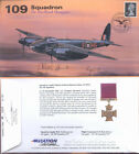 AV600 109 Sqn DH Mosquito PFF RAF WWII cover signed CURTIS DSO DFC & HARROLD