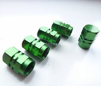 Green Hexagonal Alloy Dust Valve Caps for Mercedes A B C E S Class SLK CLK CLS