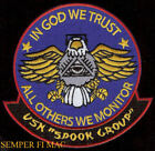 SPOOK GROUP PATCH US NAVY VETERAN GIFT Cryptologic Technicians CT Intel- Ligenc