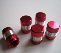 Red/Silver Alloy Dust Valve Caps for Peugeot 106 206 306 406 Coupe GTi HDi 107
