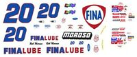 #20 Rob Moroso FinaLube 1/24th - 1/25th Scale Waterslide Decals