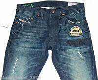 DIESEL THAVAR 882R JEANS 29X32 100% AUTHENTIC SKINNY FIT TAPERED LEG