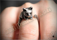 Lolita Lemony Snicket's Unfortunate Events adjustable kitten magic ring JN6070