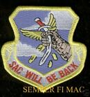 STRATEGIC AIR COMMAND US AIR FORCE HAT PATCH SAC WILL BE BACK PIN UP AFB B52 WOW