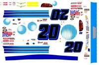#20 AT & T 1/24th - 1/25th Scale Waterslide Decals