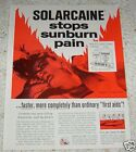 1965 vintage print ad - Solarcaine sunburn pain relief first aid 1-PAGE AD