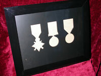 WW1 Medal Frame-1914 or 1915 Star British War & Victory Medals Trio