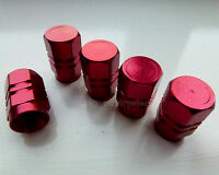 Red Hex Alloy Dust Valve Caps for Mercedes A B C E M S Class SLK CLK CLS W203