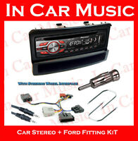 Ford Focus Pioneer CD MP3 USB Aux in Player with Car Stereo Stalk Adaptor Kit