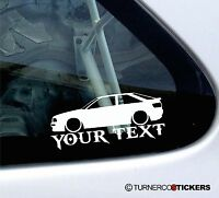 Custom Text, Lowered Audi 80 , s2 quattro Coupe low car Sticker / Decal