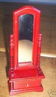 BNIB Dolls House Miniature Mahogany Long Mirror