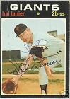 HAL LANIER  AUTOGRAPHED  1971 TOPPS  BASEBALL CARD