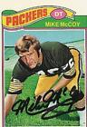 MIKE McCOY 1977 TOPPS FOOTBALL  CARD  PSA/DNA