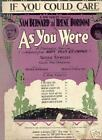 AS YOU WERE 1920 Theatre Sheet Music If You Could Care