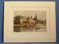 CLUMBER QUALITY RARE VINTAGE DOUBLE MOUNTED HASLEHUST PRINT 10X8 OVERALL c1920
