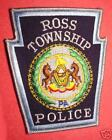 PA ROSS TWP PENNSYLVANIA POLICE DEPARTMENT PATCH MINT