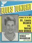 February 29, 1992 Blues vs Red Wings Program------Riendeau