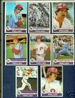 1979 Topps Philadelphia Phillies Baseball Cards TS1