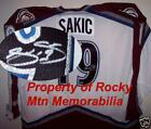 Colorado Avs Hall of Fame Member JOE SAKIC Signed Semi-Pro CCM Jersey