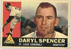 DARYL SPENCER AUTOGRAPHED 1960 TOPPS  BASEBALL CARD