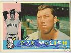 CAL McLISH  AUTOGRAPHED 1960 TOPPS  BASEBALL CARD 110 CLEVELAND INDIANS