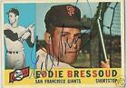 EDDIE BRESSOUD  AUTOGRAPHED 1960 TOPPS  BASEBALL CARD