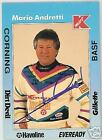 MARIO ANDRETTI  AUTOGRAPHED 1991 KMART INDY 500 CARD