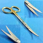 T C IRIS MICRO SURGICAL SCISSORS CURVED TIP 45 WITH TUNGSTEN CARBIDE INSERTS