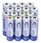 16 X BTY AA 3000mAh Rechargeable Battery NI-MH 1.2V