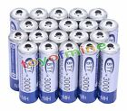 20 X BTY AA 3000mAh Rechargeable Battery NI-MH 1.2V
