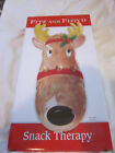2005 Fitz and Floyd Reindeer Server Snack Therapy NIB