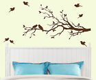 Tree Branch with 10 birds Wall Decal Deco Art Sticker Mural 14 colors to choose
