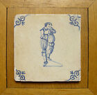 Dutch Delft Tile Man Making Music? 17th C.