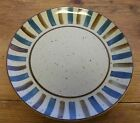 Vintage Sears Potters Wheel Dinner Plate Gray Brown Blue Stripes 4115 Stoneware
