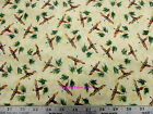 Troy Corp Pheasant Ridge Debbie Field Beige Pheasants Grass COTTON Fabric BTY