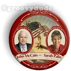 John McCain Sarah Palin For President 2008 Pin Button 3 Flag Campaign Pinback