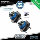 Front Rear Wheel Hub  Bearing Assembly Pair Set for Chevy Pontiac w ABS