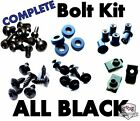 Complete Black Fairing Bolt Kit Fastener Nuts for Honda CBR600 F4 F4i 99 07