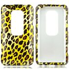 Leopard Hard Case Snap on Phone Cover Sprint HTC EVO 3D